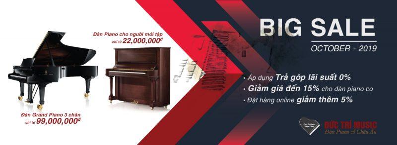 Khuyến mãi giảm giá đàn piano cơ tại kho piano đức trí gò vấp